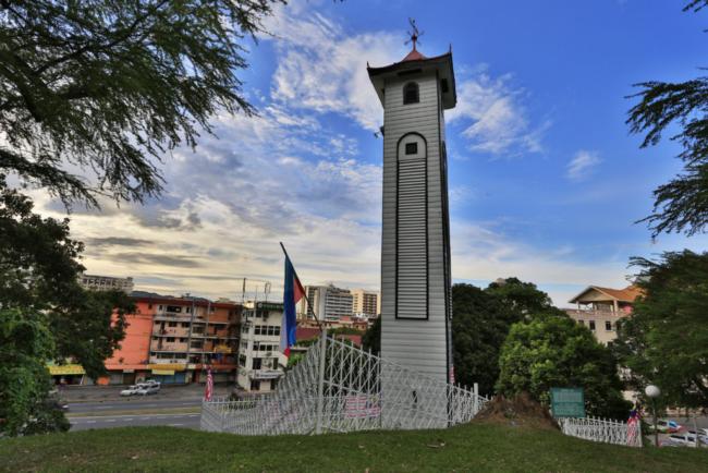 menara jam atkinson tempat sejarah sabah