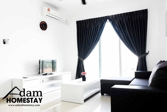 ruang luas dan selesa di homestay johor bahru